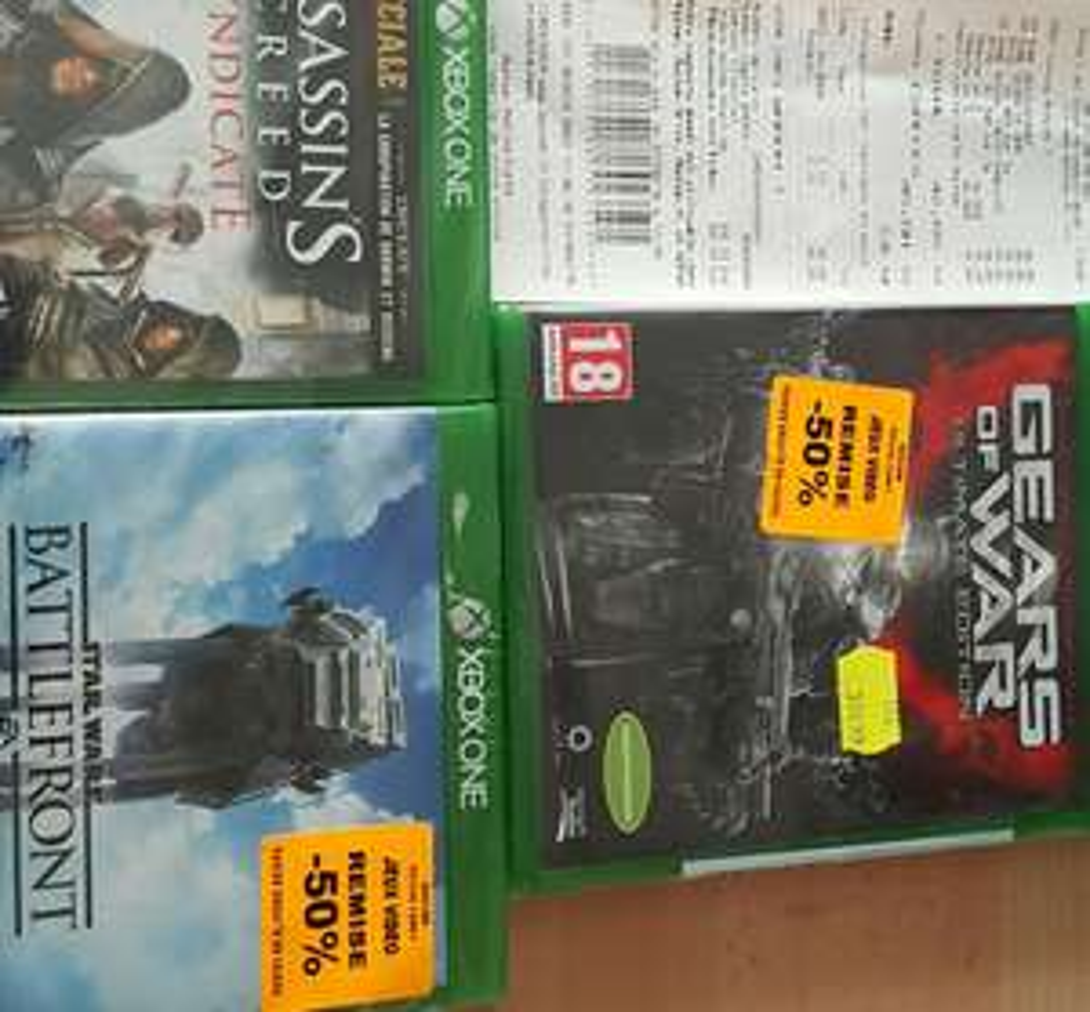 Sélection de jeux Xbox One en promotion - Ex : Gears of War Ultimate Edition à 12€, Assassin's Creed Syndicate et Star Wars Battlefront