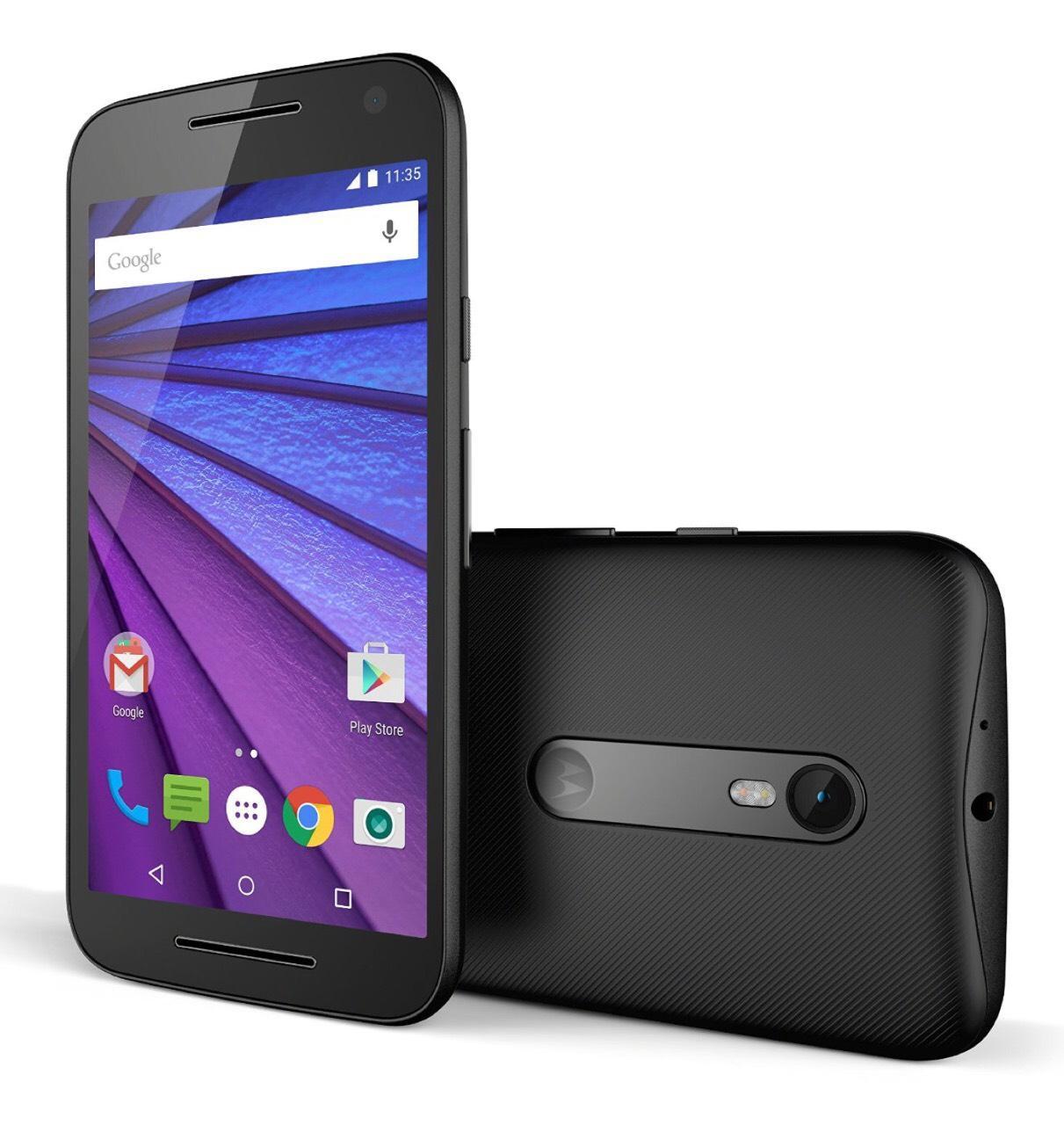 """Smartphone 5"""" Motorola Moto G - 3ème génération (2 Go de RAM, 16 Go, noir)"""