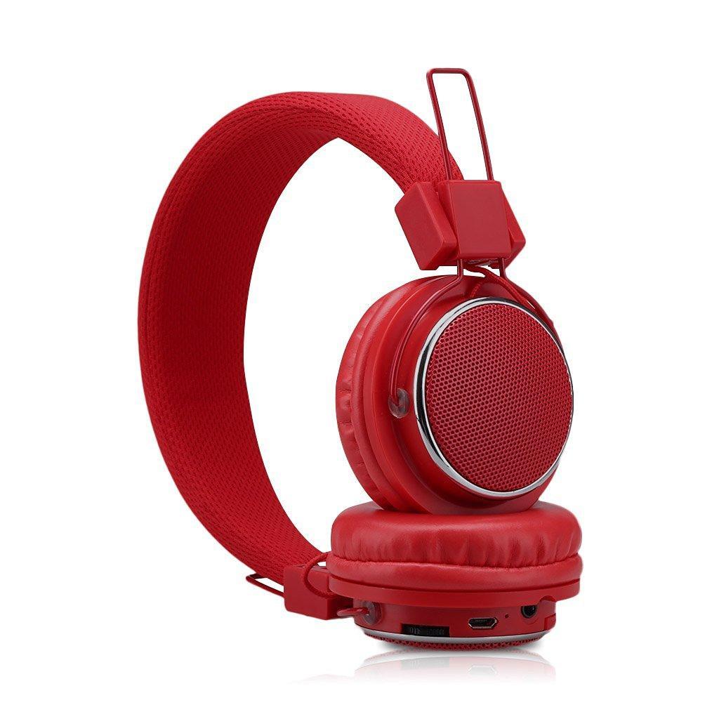Casque Connecté Bluetooth sans fil Excelvan - Rouge