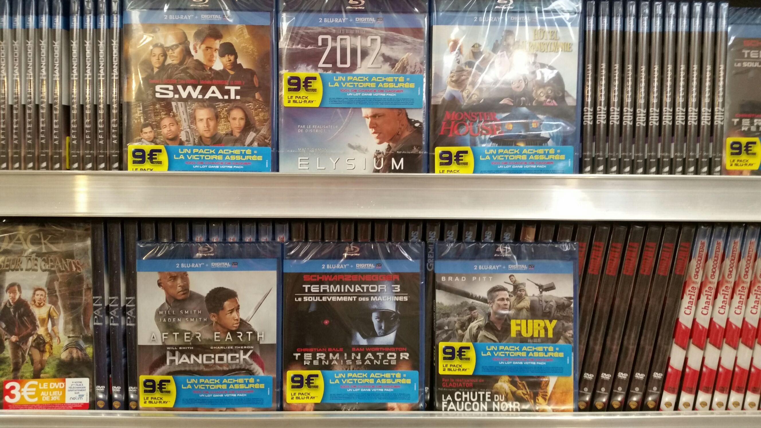 2 Blu-ray (+ Ultraviolet) à 9€ - Ex : Fury + La Chute du Faucon noir