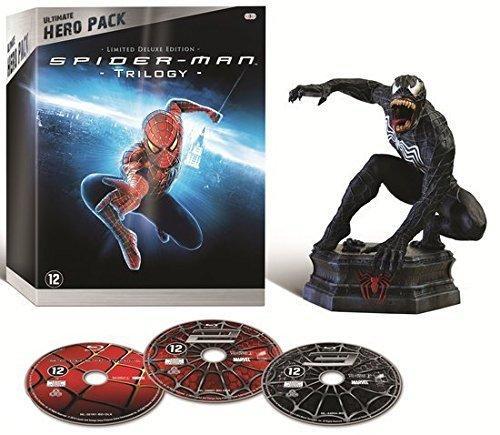 Coffret Blu-Ray Trilogie Spider-Man Edition Collector Limitée (Sam Raimi) - Les 3 Films + la Figurine Venom