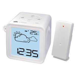 Radio-reveil / station meteo Lacrosse WT485 avec projection + sonde blanc (8€ de port)