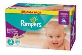 Giga Pack couches Pampers Active Fit - Plusieurs tailles (via 60% sur la carte + BDR de 2€)