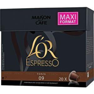 Lot de 20 capsules de café L'Or Expresso - différentes variétés (via BDR + 2.8€ sur la carte de fidélité)