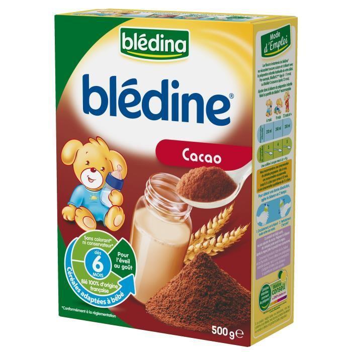 Paquet de blédine Blédina - Cacao, 500 g (via BDR)
