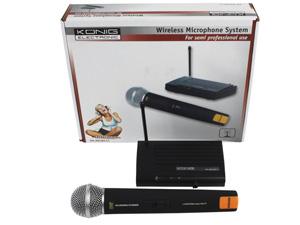 Microphone sans fil Konig KN-MICW511 avec 1 canal - Usage semi-professionnel