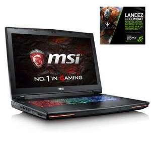 "PC portable 17,3"" MSI GT72VR-6RE - i7-6700HQ, 8 Go RAM,  1 To HDD, 128 Go SSD, GTX 1070"