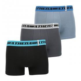 Lot de 3 boxers Athena Black ou Pulse (via 14.29€ sur la carte de fidélité)
