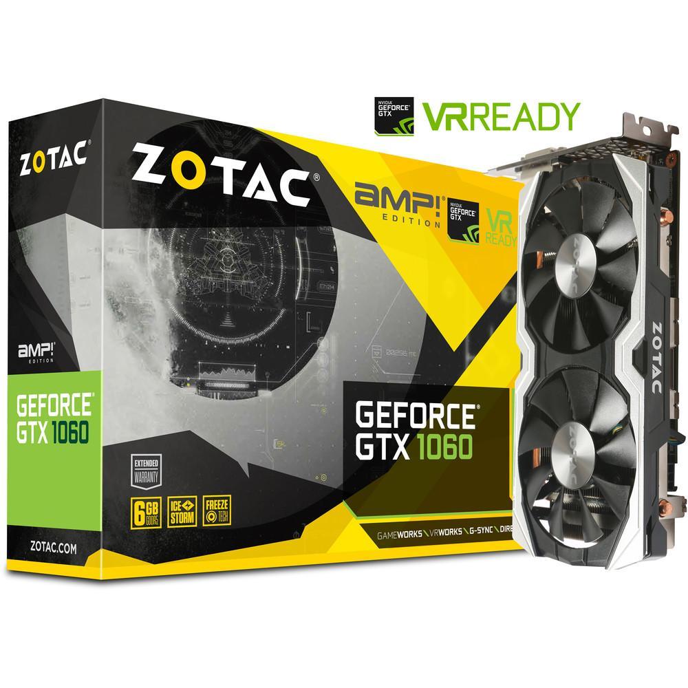 Carte graphique Zotac GeForce GTX 1060 AMP - 6 Go + Credits-jeux Paragon offerts