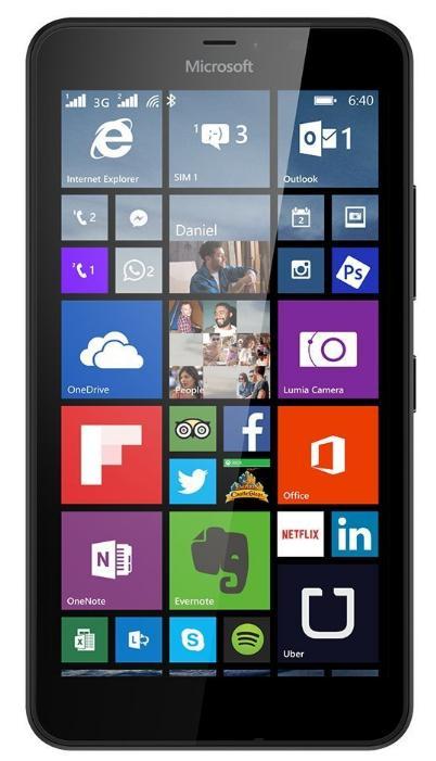 """Smartphone 5.7"""" Microsoft Lumia 640 XL Noir - Dual Sim 4G (via ODR de 50€)"""
