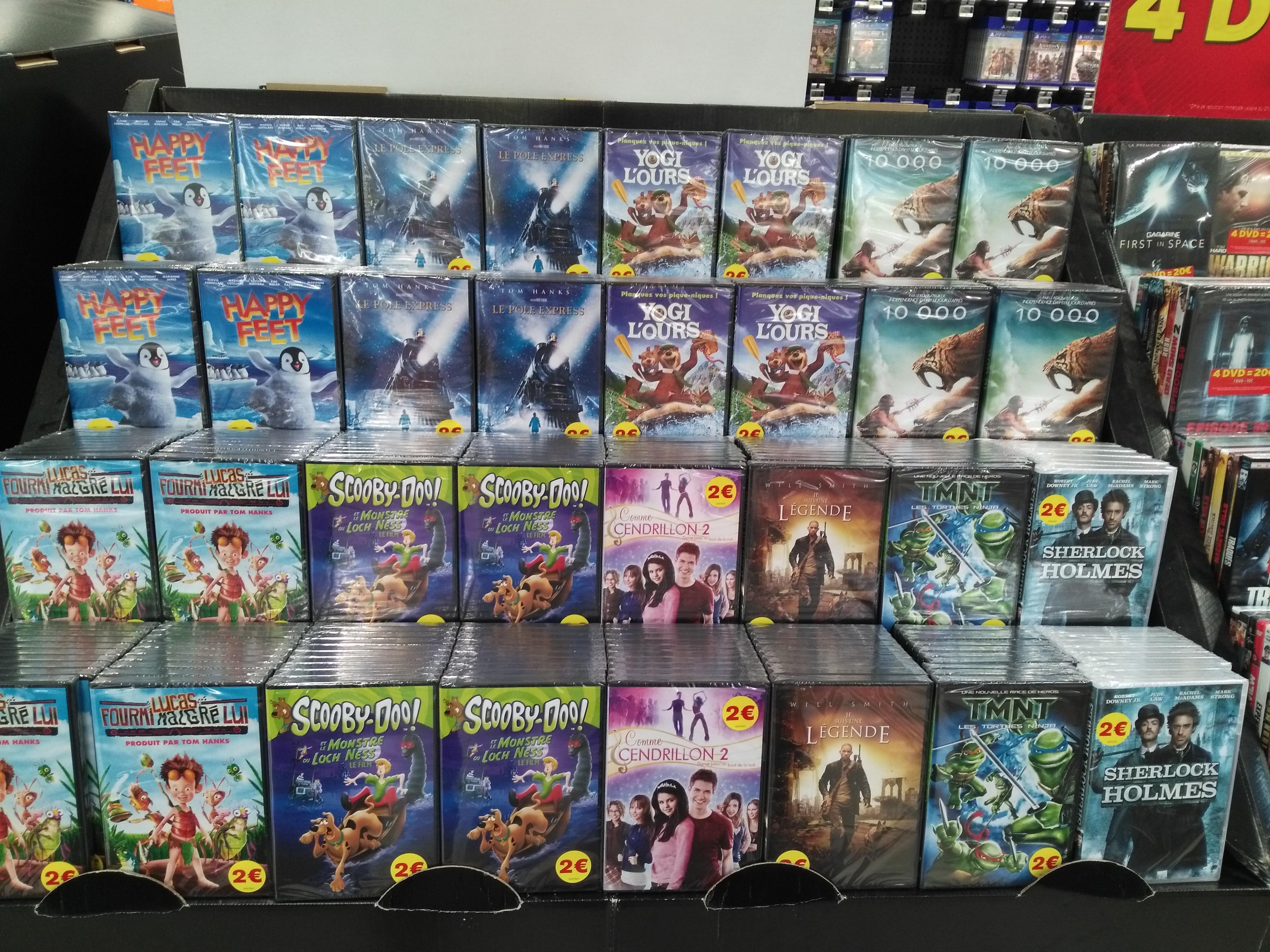 Sélection de DVD à 2 ou 5€ - Ex : Happy Feet