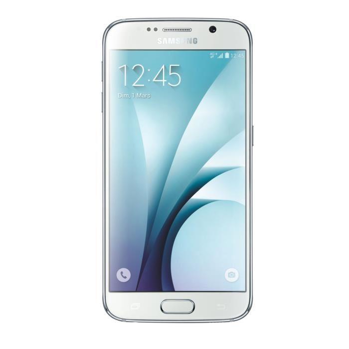 """Smartphone 5.1"""" Samsung Galaxy S6 - 32 Go + Chargeur à induction + 89.8€ en bon d'achat (avec ODR 50€)"""