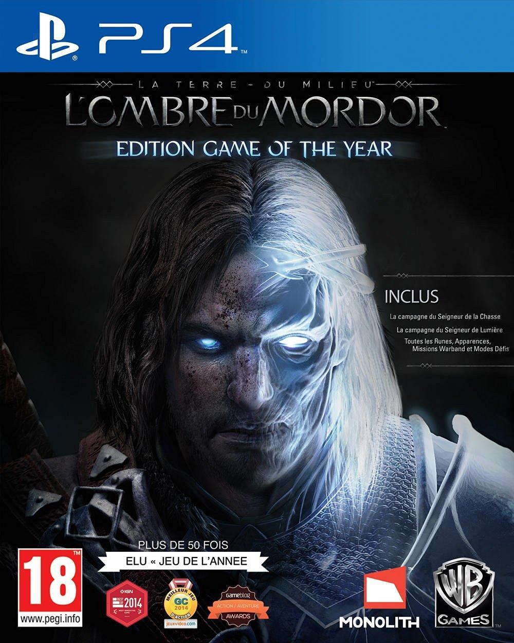 La Terre du Milieu : l'ombre du Mordor - Edition Jeu de l'année (GOTY) sur PS4