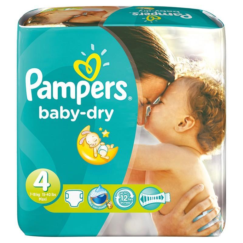 Lot de 3 paquets de couches Pampers Baby Dry - taille au choix (via BDR + Coupon Network)