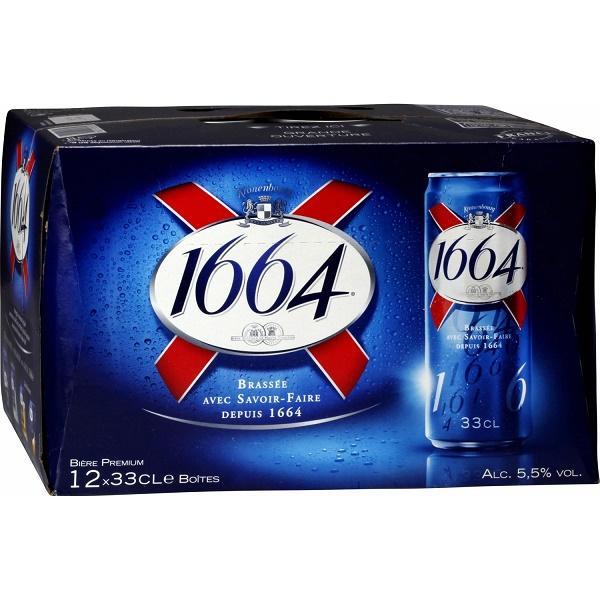Sélection de promotions - Ex : lot de 2 packs de 12 bières 1664 - canettes 33 cl Remise immédiate