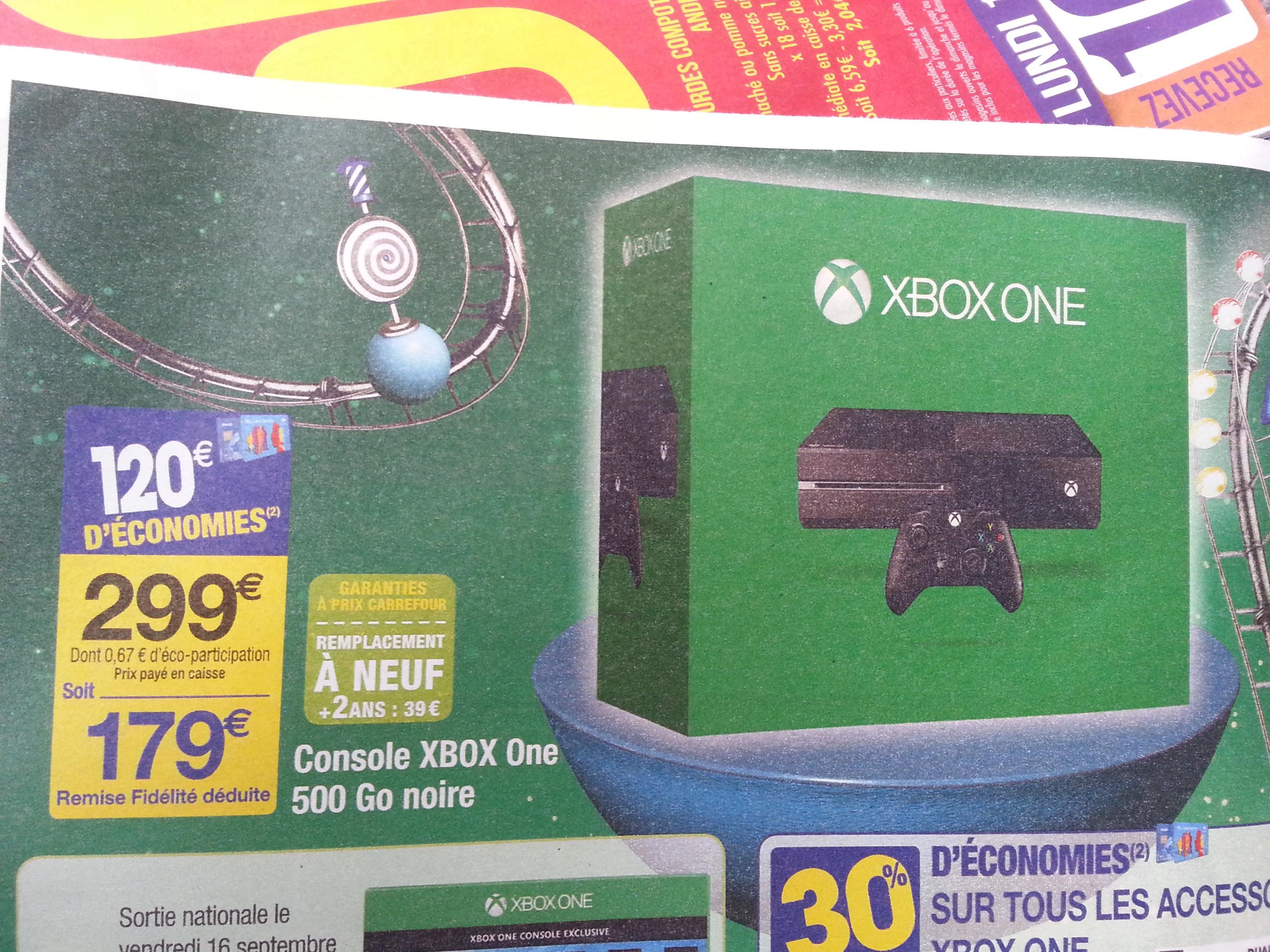 Console Microsoft  Xbox one 500 Go  (avec 120€ sur la carte)