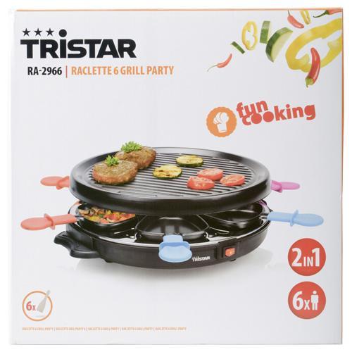 Appareil à raclette / Grill Tristar Gourmet, 6 personnes