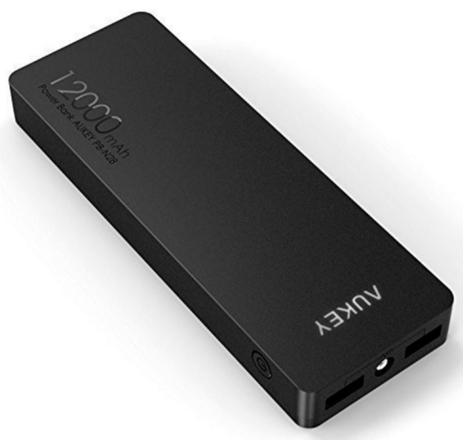 Batterie externe Aukey 12000 mAh - 2 ports