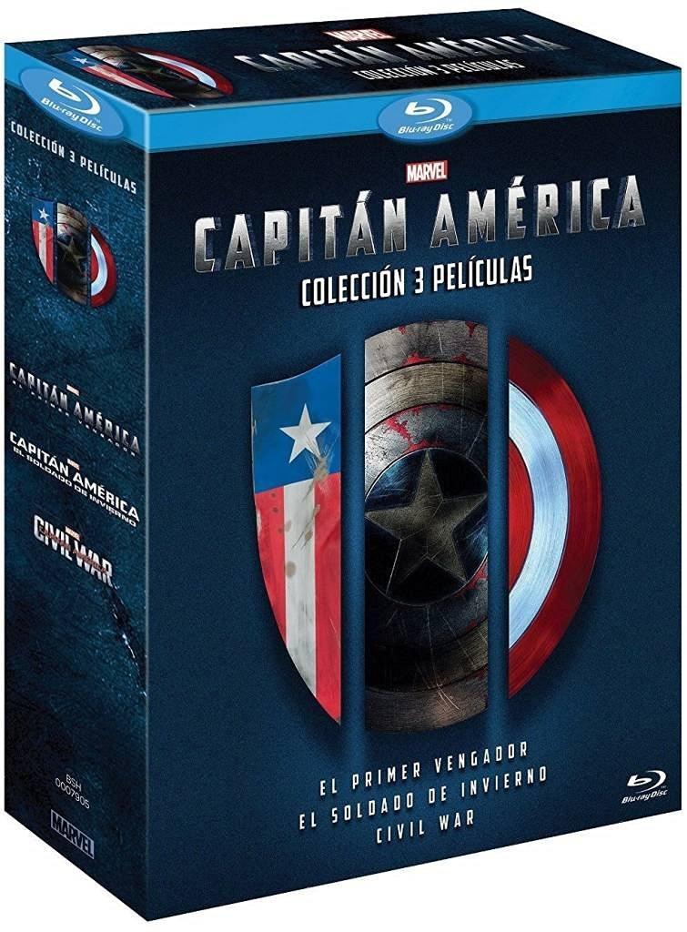 [Précommande] Coffret Blu-Ray Captain America: Collection - Les 3 Films (VF uniquement sur le 1er et 2ème Blu-Ray)