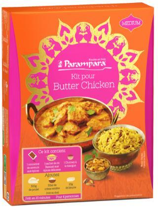 Kit de préparation pour butter Chicken Parampara