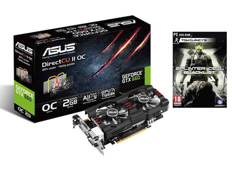 Carte graphique Asus GeForce GTX 660 - 2048 Mo - PCI-Express + Tom Clancy's Splinter Cell Blacklist - Via buyster