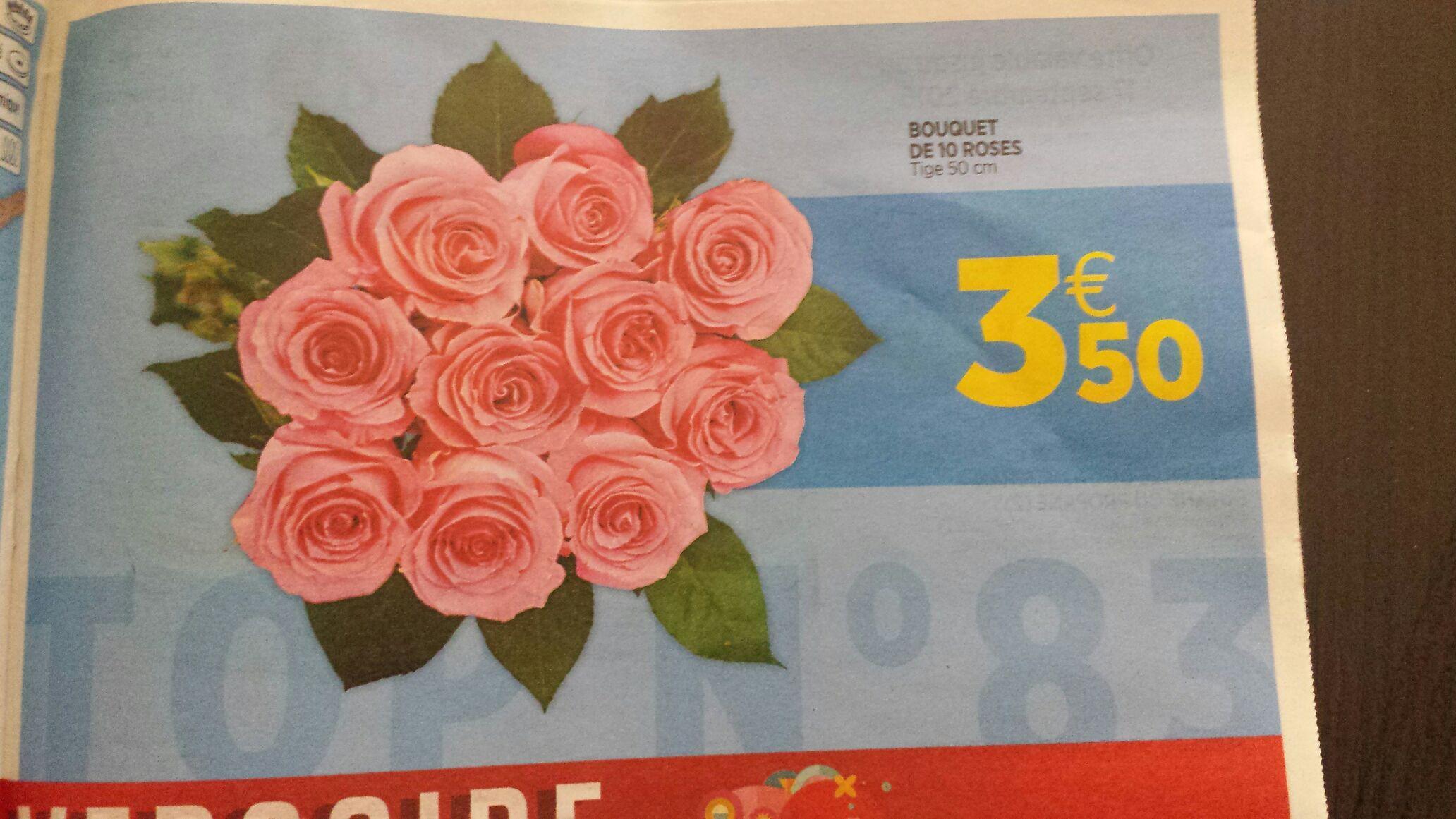 Bouquet de 10 roses (Tige 50cm)