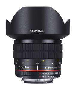 Sélection d'objectifs en promotion - Ex : Grand angle Samyang 14mm f/2.8 IF ED UMC Aspherical (monture Samsung NX)