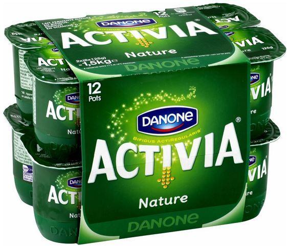 Pack de 12 yaourts Activia nature (via BDR)