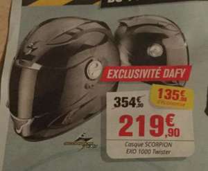 Sélection d'articles en promotion - Ex : Casque moto Scorpion ExO 1000 Twister