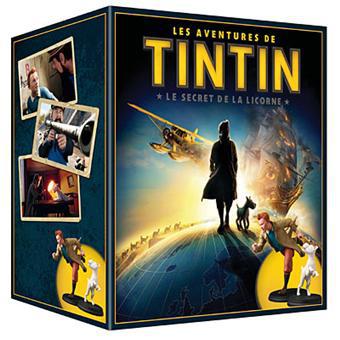 Coffret Prestige Edition Limitée et Numérotée Les aventures de Tintin Le secret de la Licorne - Combo Blu-Ray + DVD