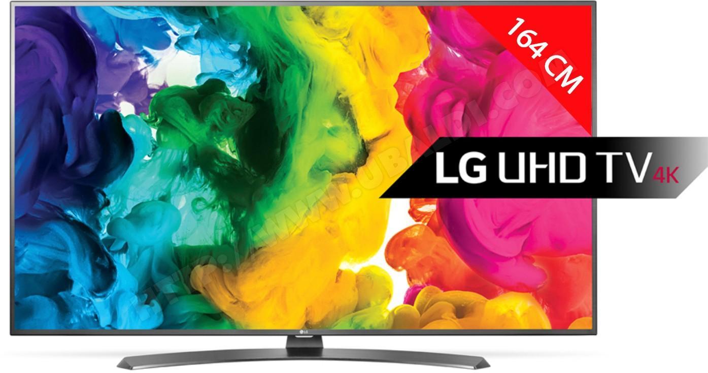 """TV 65"""" LG 65UH661V - LED, 4K (via ODR de 300€)"""