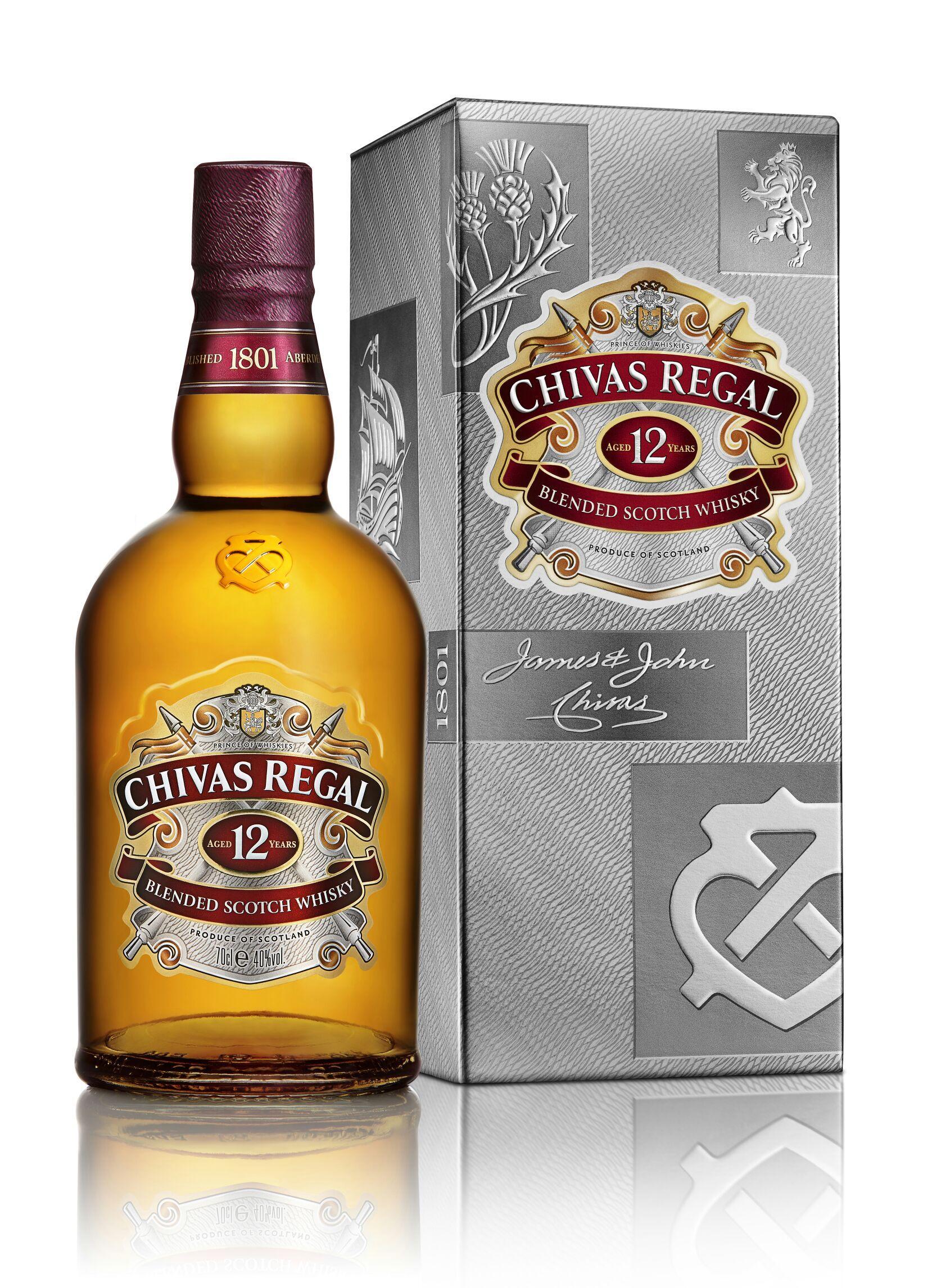 Bouteille de Chivas Regal 12 ans - 70 cl (via 7,23€ sur carte )