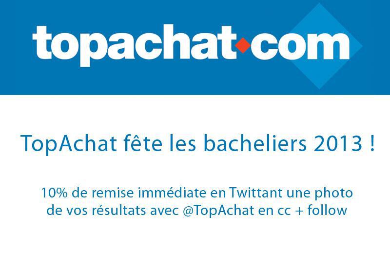 -10 % sur tout le site pour les bacheliers 2013 (Demande via Twitter)