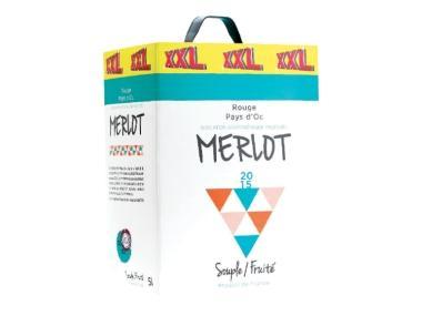 Cubitainer de vin rouge Merlot Pays d'Oc - IGP1, 2015 (5 L)