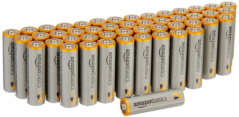 Lot de 48 piles alcalines Amazonbasics - Type AA