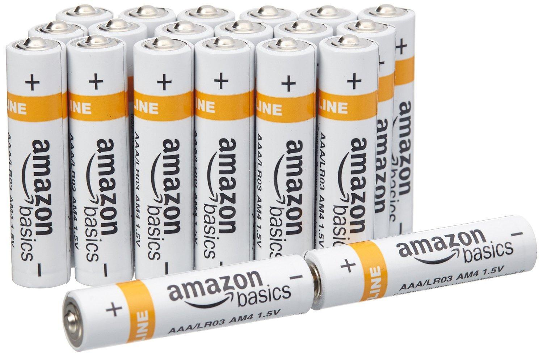 Lot de 20 piles alcalines  AmazonBasics Type AAA
