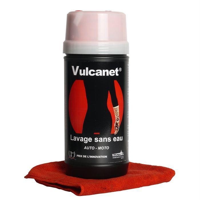 Lingettes pour nettoyage auto / moto Vulcanet + chiffon (en microfibres)