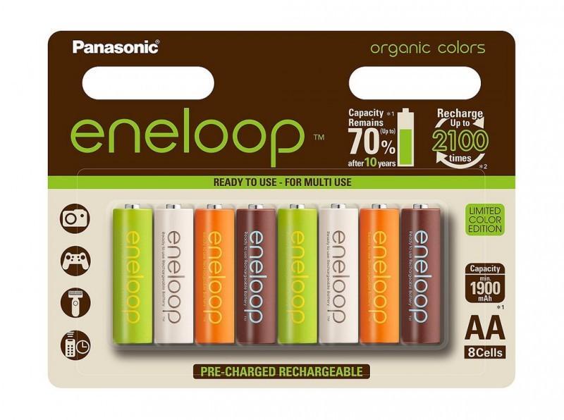 8 Accus AA Panasonic Eneloop Organic (Edition limitée)