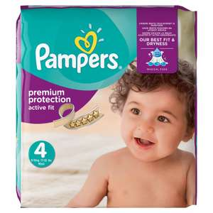 Pack de 168 couches Pampers Active Fit - Taille 4