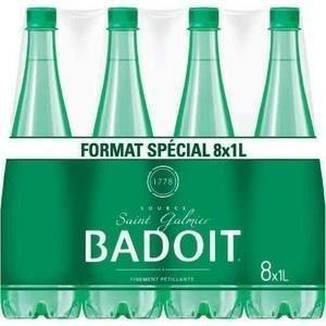 Pack de 8 bouteilles de Badoit 1L (via 6.50€ sur la carte) gratuit