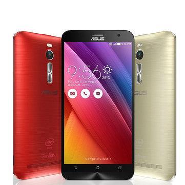 """Smartphone 5.5"""" Asus Zenfone 2 - 32Go, 4Go, RAM Intel Atom Z3560, Rouge"""