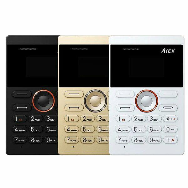 "Téléphone portable 1"" Aiek E1 Ultra Slim (Coloris au choix) - 32Mo, GSM, microSim,  320mAh, microUSB, Bluetooth"