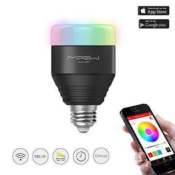 MIPOW E27 Ampoule LED 5w RGB contrôle via bluetooth
