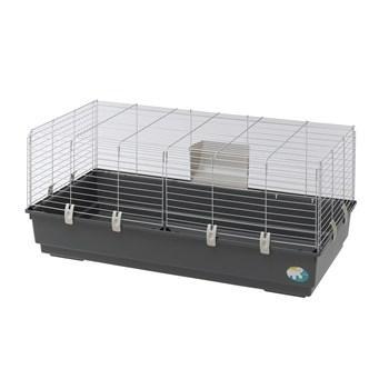 Cage Rabbit 120 EL pour grands rongeurs - Longueur 118 cm, Gris