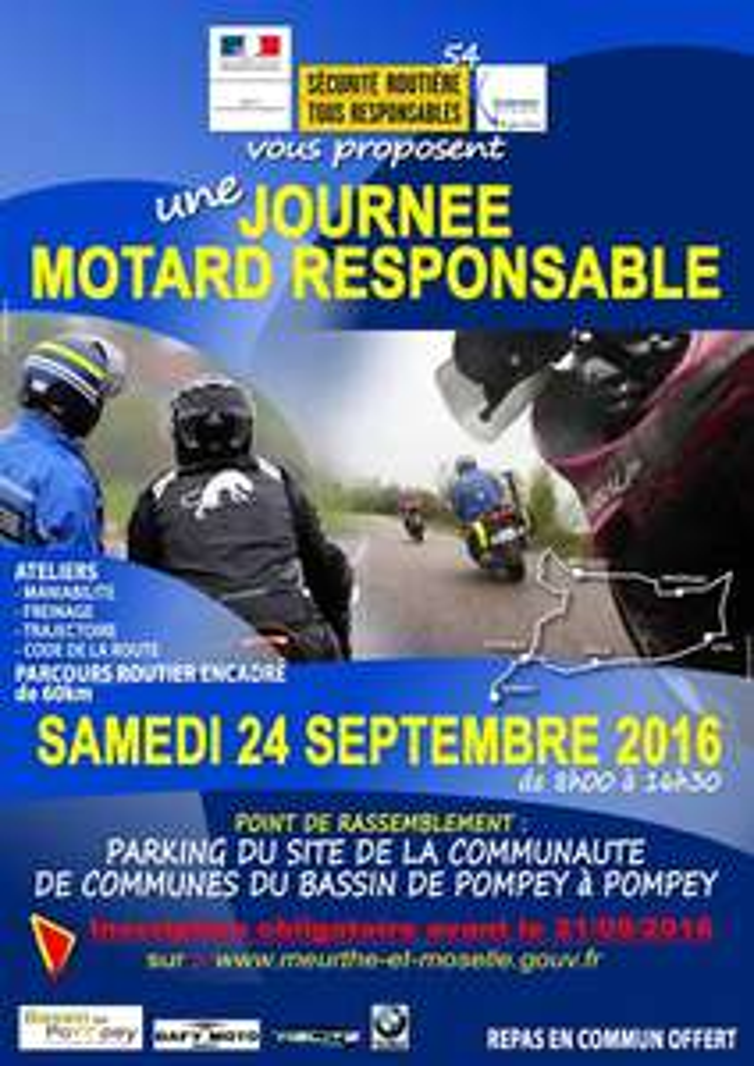 Operation Motard responsable + repas offert à tous les participants le 24 septembre 2016