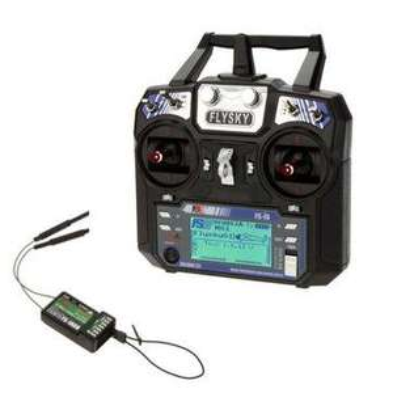 R/C Emetteur Flysky FS-i6 2,4Ghz avec récepteur FS-iA6B