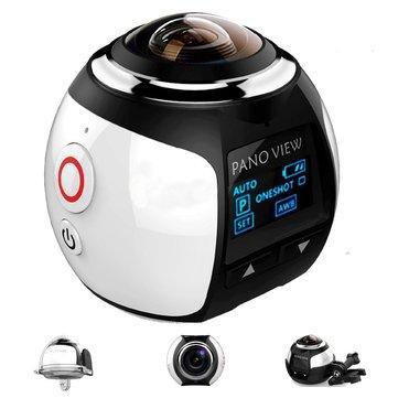 Mini-Caméra Panoramique Sans-fil Pano View à 360° - WiFi, 16MP, 2448p, 30fps