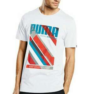 T-Shirt Puma Fun Dry Graphic pour Hommes - Blanc, Taille S