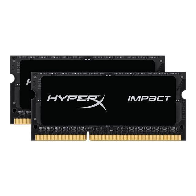 Kit Mémoire RAM HyperX Impact 16 Go (2 x 8 Go) - SoDimm, DDR3L, 1600 MHz, CL9