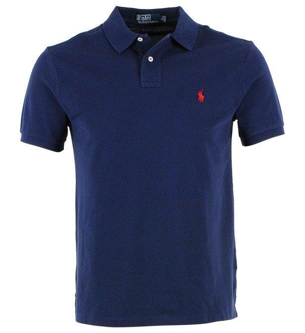 Sélection de produits Ralph Lauren en promotion - Ex : Polo logo brodé et coupe ajustée, bleu marine